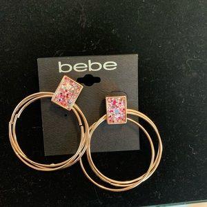 Bebe Pink/Rose hoops
